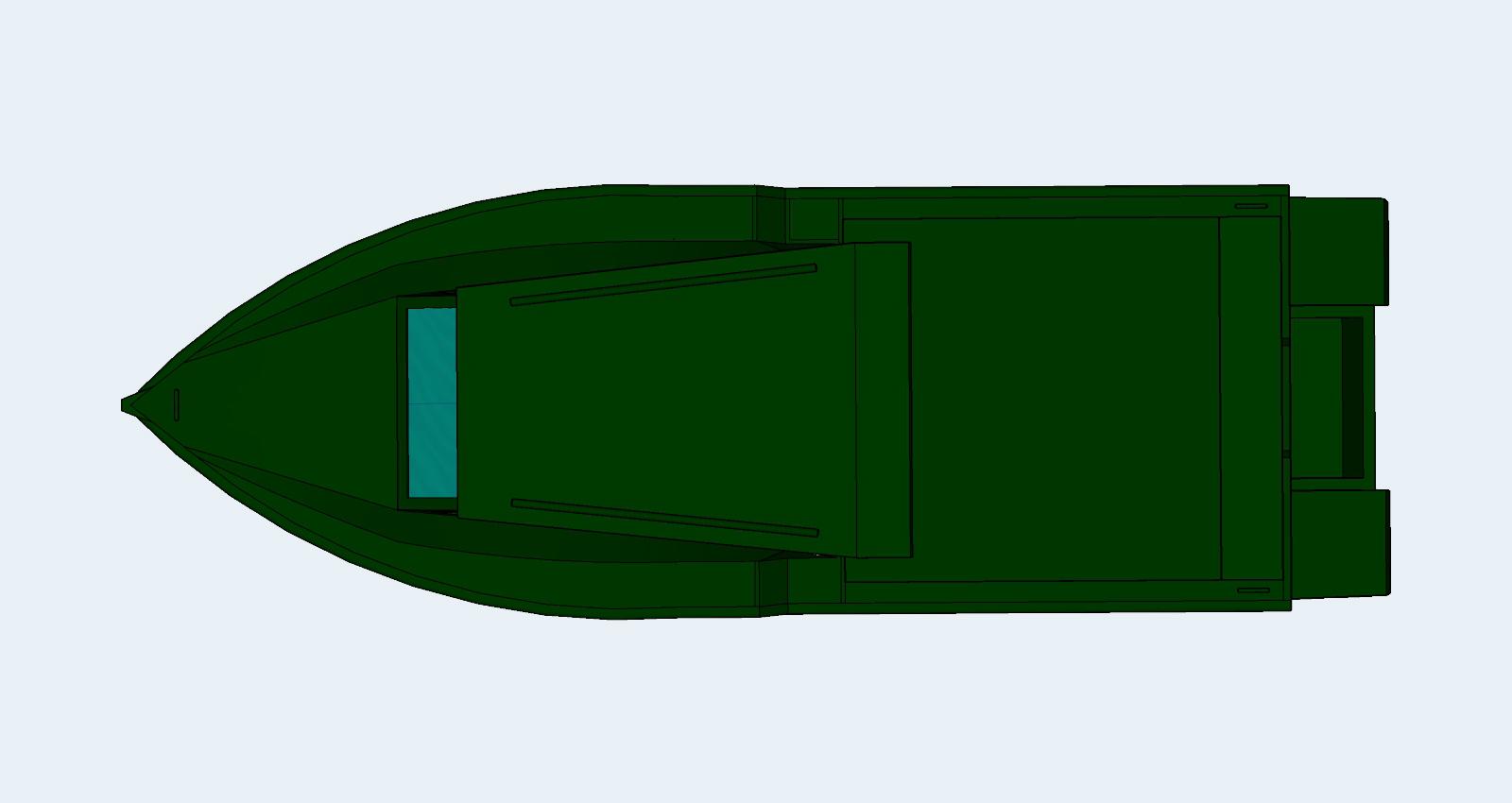 Hliníková loď 3D